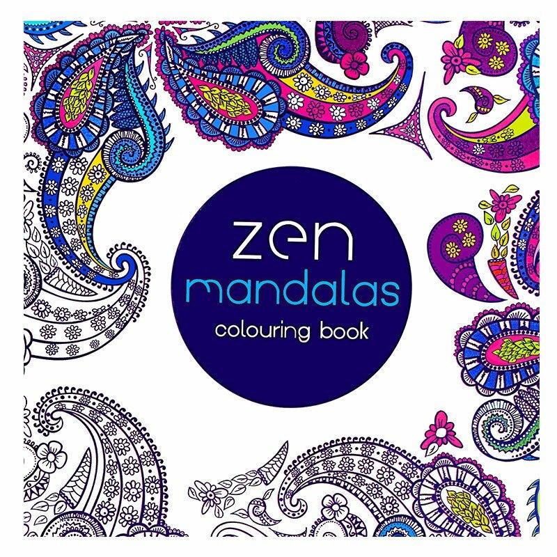 24 Pages Mandalas Antistress Adult Coloring Books For Adults Livre Cloriage Kids Art Book