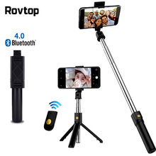 Bluetooth Selfie Stick Tripod Extendable Monopod Adjustable Selfie Stick For Xiaomi Samsung Mini Tripod For iPhone Huawei