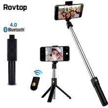 Palo de Selfie extensible con Bluetooth, ajustable para Xiaomi monopié, Samsung, Mini trípode para iPhone y Huawei