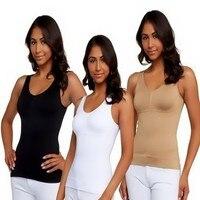 Plus Size Women Bra Cami Tank Top Body Shaper Removable Shaper CorrectiveUnderwear Slimming Vest Corset Slim Shapewear