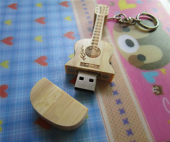 0!Best qualityusb flash drive Best selling Wood guitar - USB creativo Flash Drive thumb pendrive memory stick u disk/S179