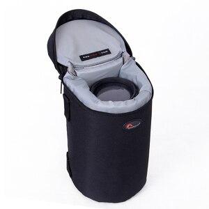 Image 5 - Hızlı kargo yeni Lowepro Lens çantası çantası su geçirmez fotoğraf çantası standart Zoom objektifi siyah