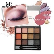MUSIC ROSE 12 Colors Shimmer Eyeshadow Palette Glitter Pink Waterproof Pallete Women Girl Gift
