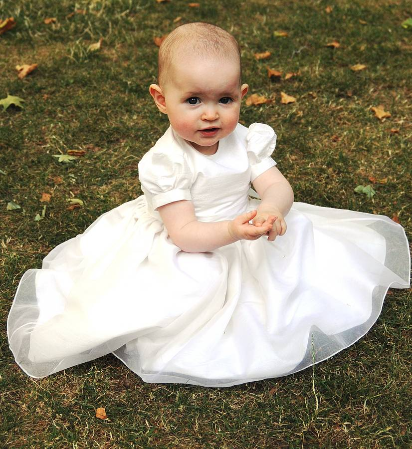 Free Shiping Flower Girls Dresses For Wedding Gowns Ankle -Length Communion Dresses Satin Baby Girl Clothes