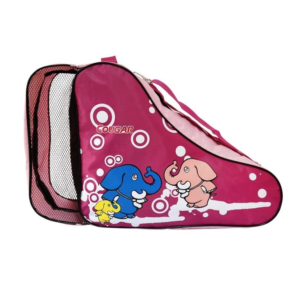 Cartoon Kids Roller Skating Bag Adjustable Shoulder Strap Universal Roller Skating Bag Portable Outdoor Carry Bag 52x19x34cm