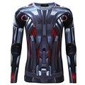 Сжатия Рубашка Мужчины С Длинным рукавом Фитнес Crossfit 3D Майка Мужчины Clothing Quick dry Бодибилдинг Плотно Топы 2016 осень зима