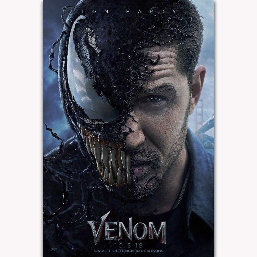 Venom Marvel Hot Movie Art Silk Poster Canvas Print 12x18 24x36 inch