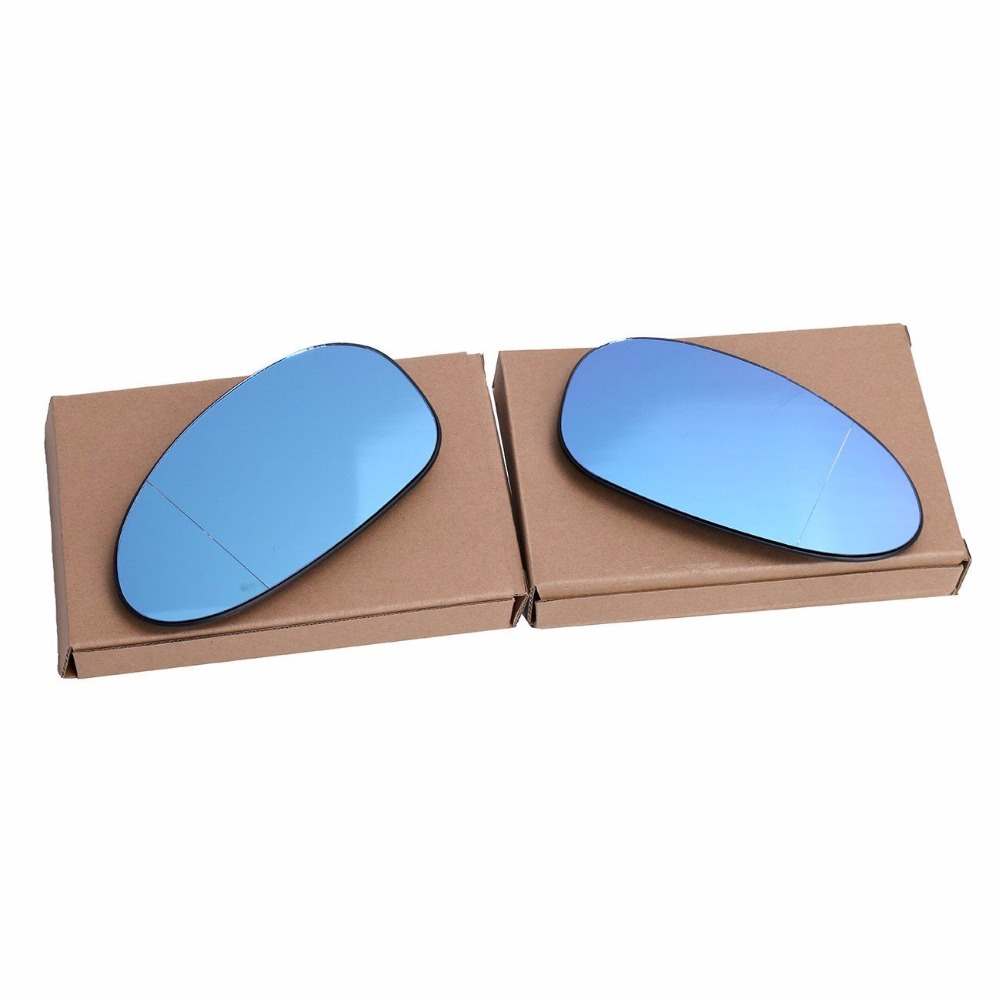 OEM QUALITY For BMW E82 E88 128i 135i E85 Z4 E90 E91 323i 325i 328i 330i 335i 2x Heated Blue Tinted Wing Door Mirror Glass
