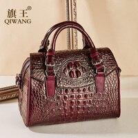 Vintage Crocodile Women Handbags Bags Genuine Leather Female Fashion Bags Luxury Brand Designer Shoulder Bags bolsa feminina