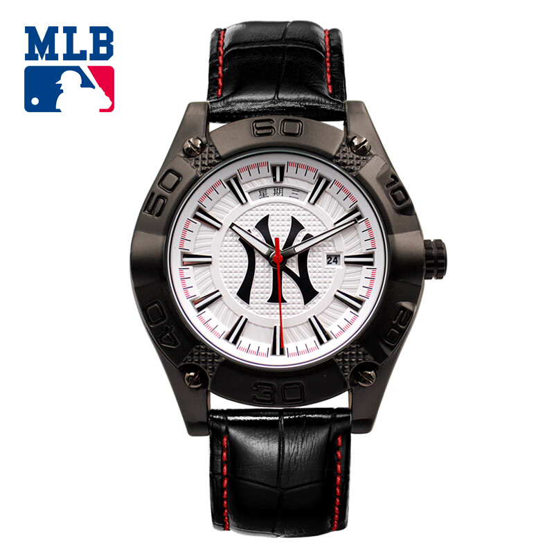 MLB FX series sport luminous wristwatch calendar water resistant watch fashion leisure leather strap  men watches MLB-FX001 buff sport series water 2 gloves