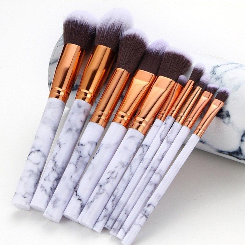 Уникальный Мрамор текстура кисти для макияжа Фонд корректор порошок теней для бровей Make Me Blush профессиональные кисти комплект #0123