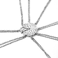 2017 creative Pizza Cheese Pendant Necklaces Friendship Necklace Best Friends Forever fashion  Birthday Gift Hot sale