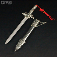 Retro Home Decorations Carved Stainless Steel Blade European Style Little Exquisite Gift Sword