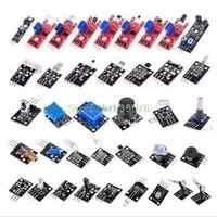 Pour arduino 37 en 1 Kit capteur démarreurs marque/RRGB/joystick/photosensible/détection sonore/évitement d'obstacles/buzzer