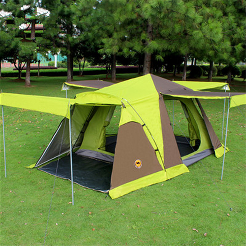 SamCamel 3-4 person Large Family Tent Large Camping Tent Sun Shelter Gazebo Beach Tent Tente Camping Awning alltel high quality double layer ultralarge 4 8person family party gardon beach camping tent gazebo sun shelter