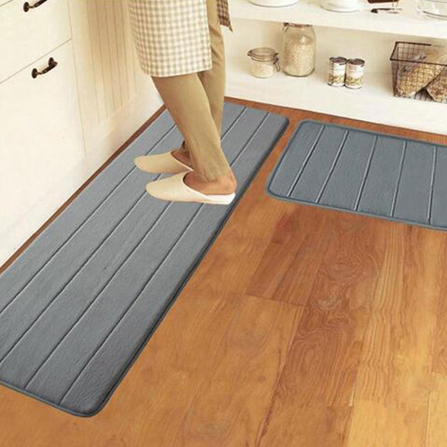50X80CM+50X160CM/Set For Kitchen Mat Soft Velvet Water Absorption Doormat  Anti Slip