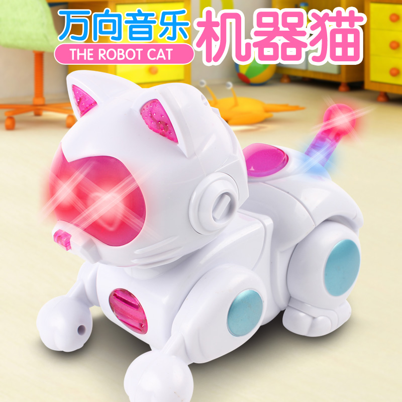 Online buy wholesale robot cat toy from china robot cat for Best motorized cat toys