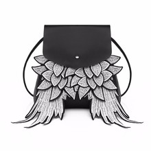 Water bucket shoulder bag Cartoon cute angel's wing shoulder bag damp bag