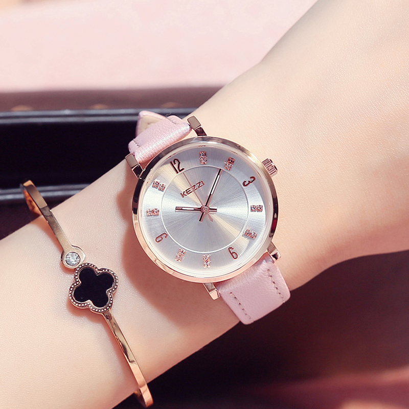 KEZZI women fashion leather strap wristwatches diamond women dress watches female clocks kezzi k760g