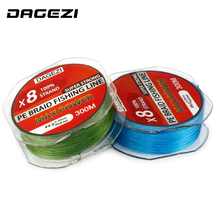 DAGEZI 8 strand 300m/330YDS Super Strong fishing lines  30-80LB 100% PE Braided Fishing Line smoother lead line for saltwater