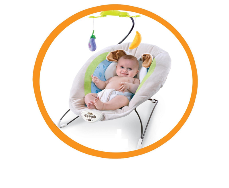 2017 New Gray Baby Electric Rocking Chair With Rabbit Pillow Kids Calming Vibration Music Rocking Bouncers,Jumpers & Swings10