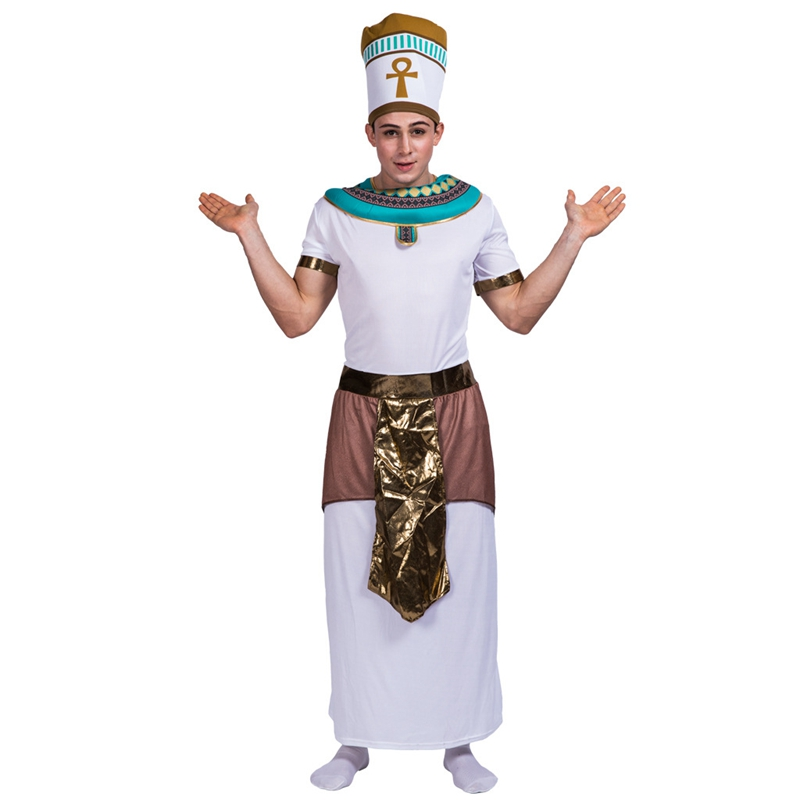 Adult Egyptian Mens Pharaoh Historical Halloween Costume