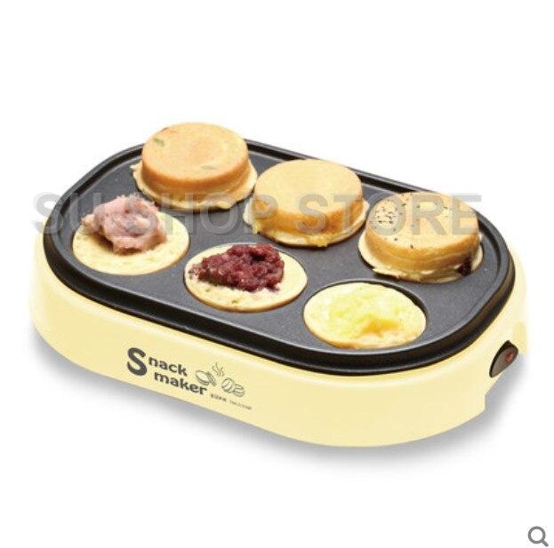 electric eggs roasted hamburger machine Red beans cake pie Maker MINI breakfast pancake baking crepe Fried