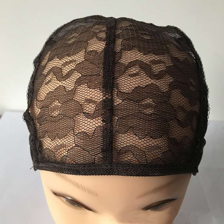 Fashion Style 1 Pcs Double Lace Wig Caps For Making Wigs And Hair Weaving Stretch Adjustable Wig Cap Hot Black Dome Cap For Wig Hair Net