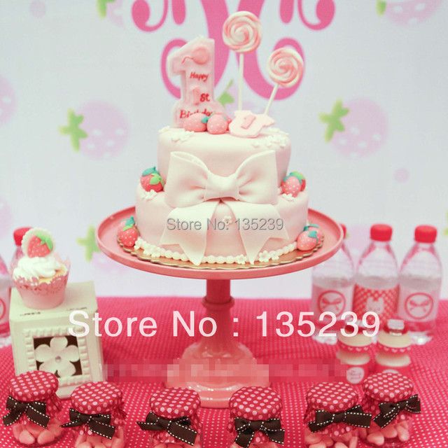 10\  Iron Cake Stand Plate Bakery Grade for Wedding Baby Shower Party Favors Decoration & 10\