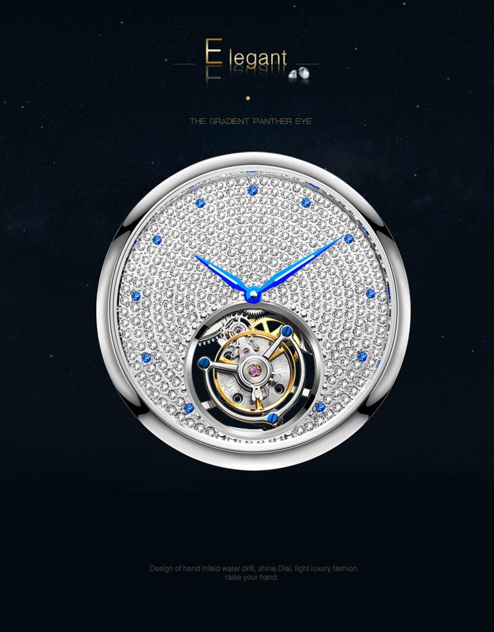 2019 Real Tourbillon Mechanical Hand Wind Sapphire Mens Watches Top Brand Luxury Rhinestone Clock men Gold Relogio Masculino 10