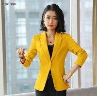 Ladies Work Wear Blazer Plus Size Formal Blazer for Women Slim Fit Blazer Mujer Office Jacket Coat Black White Red Orange Yellow