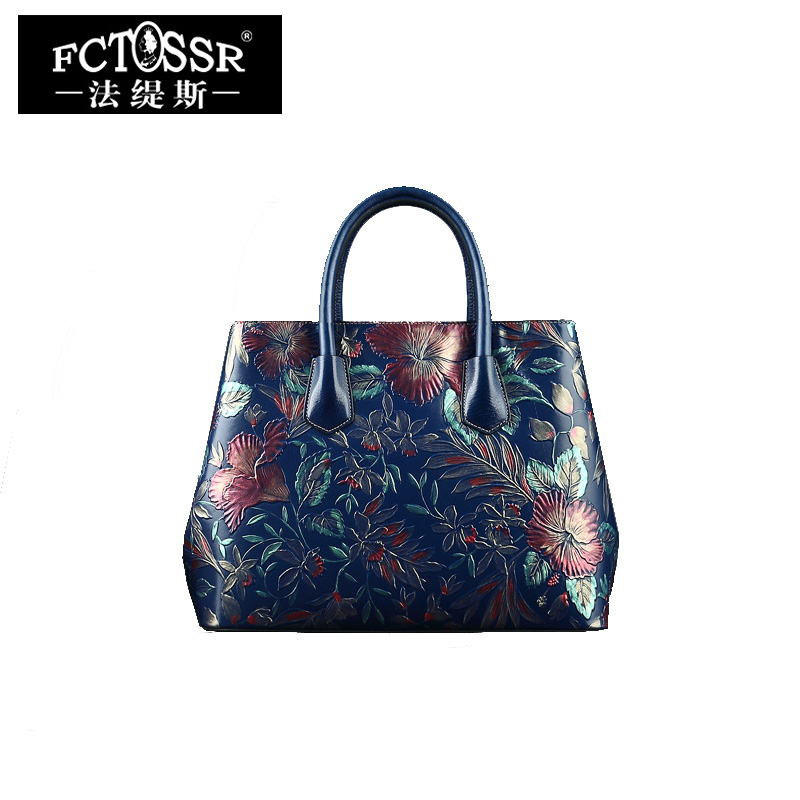 Summer New Arrival Women Handbag Genuine Leather Top Handle Bag Women Tote