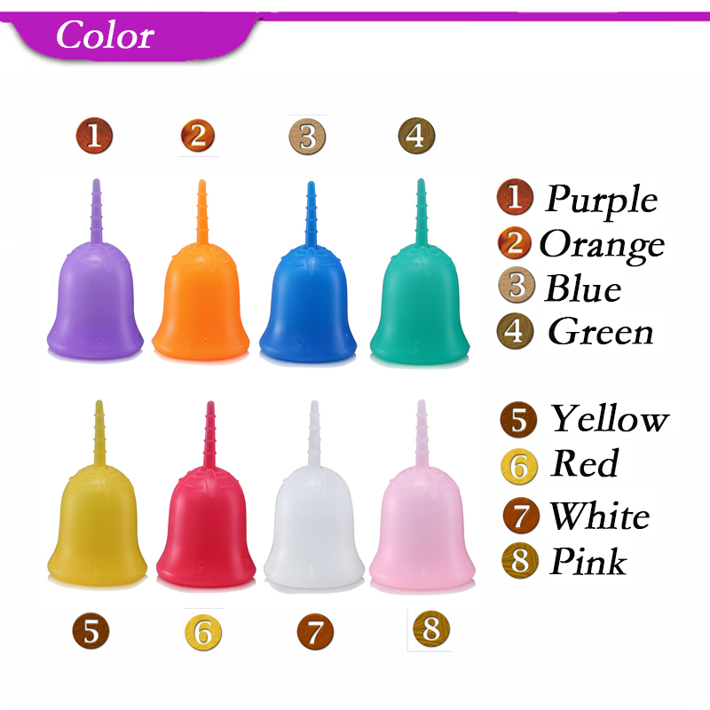40 pcs Soft Wholesale Reusable Medical Grade Silicone Menstrual Cup Feminine Hygiene Product Lady Menstruation Copo AMC40RG