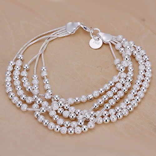 H250 Silver Plated Bracelets For Women Wholesale Free Shipping