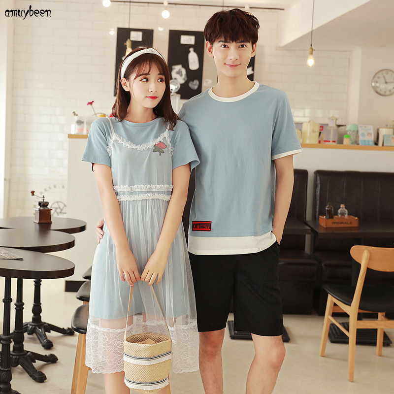 Honeymoon Clothes: Matching Couple Clothes T Shirts Dress Women Summer 2018