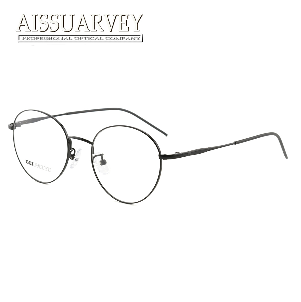 Eyeglasses Optical Glasses Frame Women Round Metal Prescription Big ...