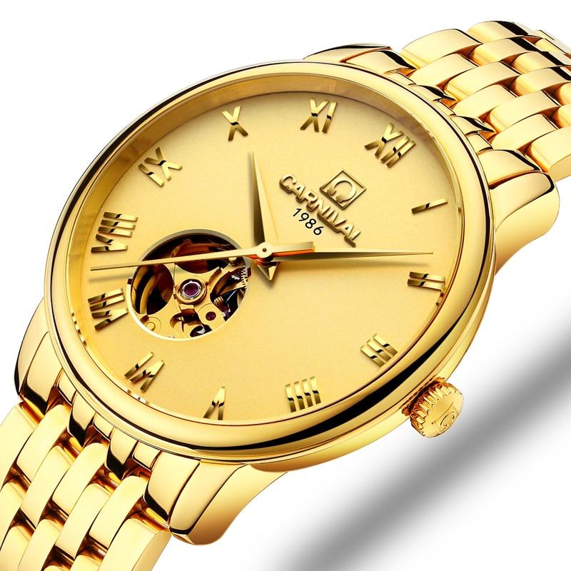 Switzerland Carnival Watch Men JAPAN MIYOTA Automatic Mechanical Brand Luxury Men Watches Sapphire reloj hombre Clock C50801-2 japan miyota automatic movement watch men switzerland carnival brand luxury men watches sapphire hombre relogio clock c7612 2