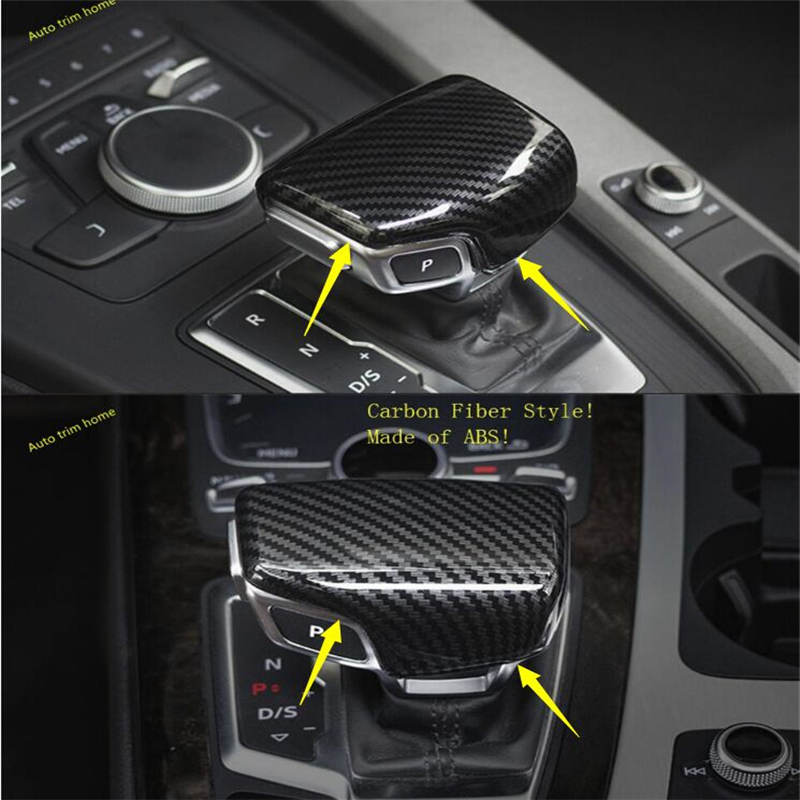 ABS Pearl Chrome Inside Gearshift Knob Panel Cover Trim For AUDI Q7 2016 2017