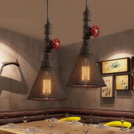 Loft Style Water Pipe Lamps Edison Pendant Light Fixtures Vintage Industrial Lighting For Living Dining Room Bar Hanging Lamp loft style metal water pipe lamp retro edison pendant light fixtures vintage industrial lighting dining room hanging lamp