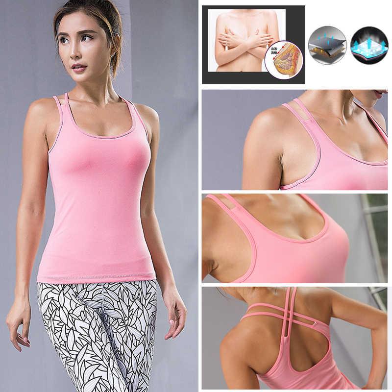 c20bffeb0 ... Mujeres Yoga conjuntos deporte traje de Fitness deporte desgaste  Leggings para correr superior T-shirt