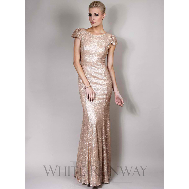 Buy sparkly gold sequined bridesmaid for Sparkly wedding dresses with sleeves