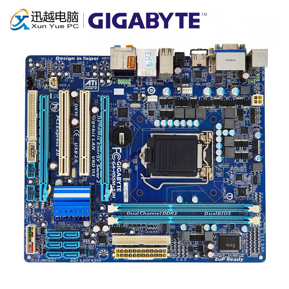 все цены на Gigabyte GA-H55M-S2H Desktop Motherboard H55M-S2H H55 LGA 1156 i3 i5 i7 DDR3 8G SATA2 USB2.0 VGA DVI HDMI Micro-ATX