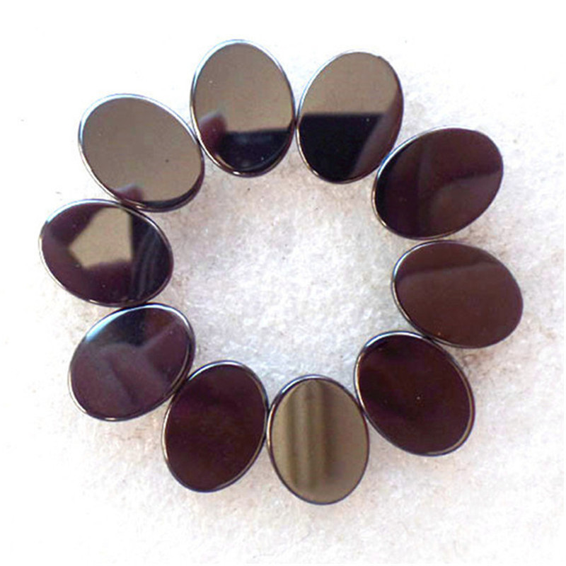 (10 pieces/lot) Wholesale Natural Hematite Oval CAB CABOCHON 16x12x4mm Free Shipping Fashion Jewelry Z4755