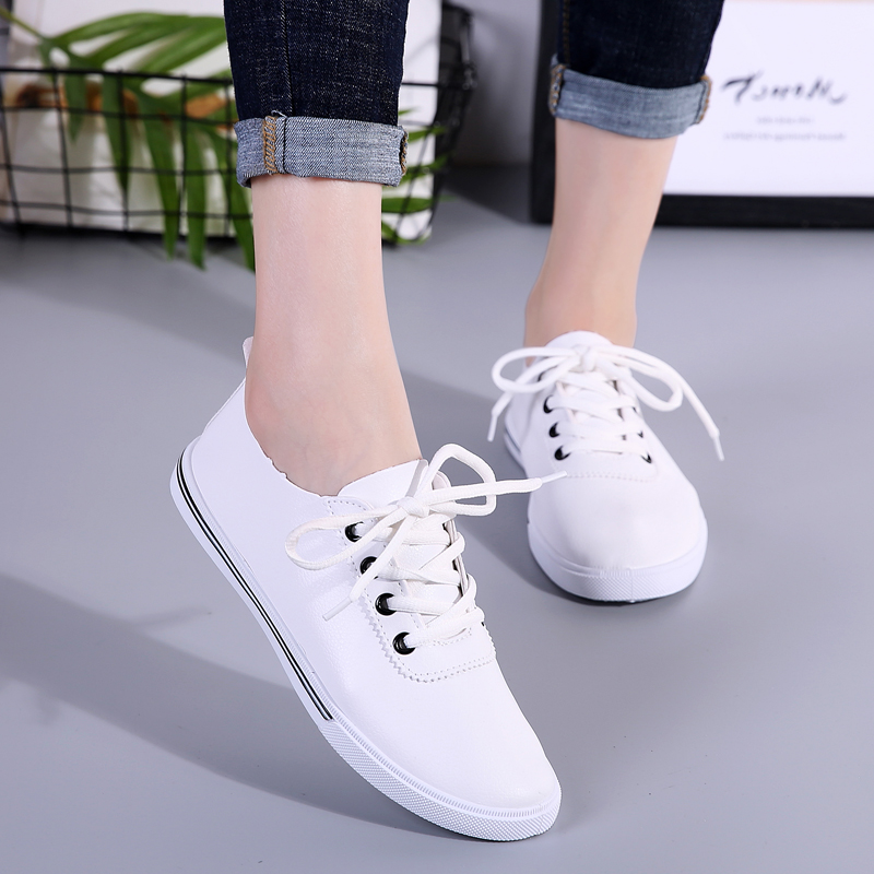 87b19e90b47d Detail Feedback Questions about Youth Outdoor White Sport Running Shoes  Breathable Affordable Antislip Sneakers Women Flats Black New Tide Shoes  for Female ...
