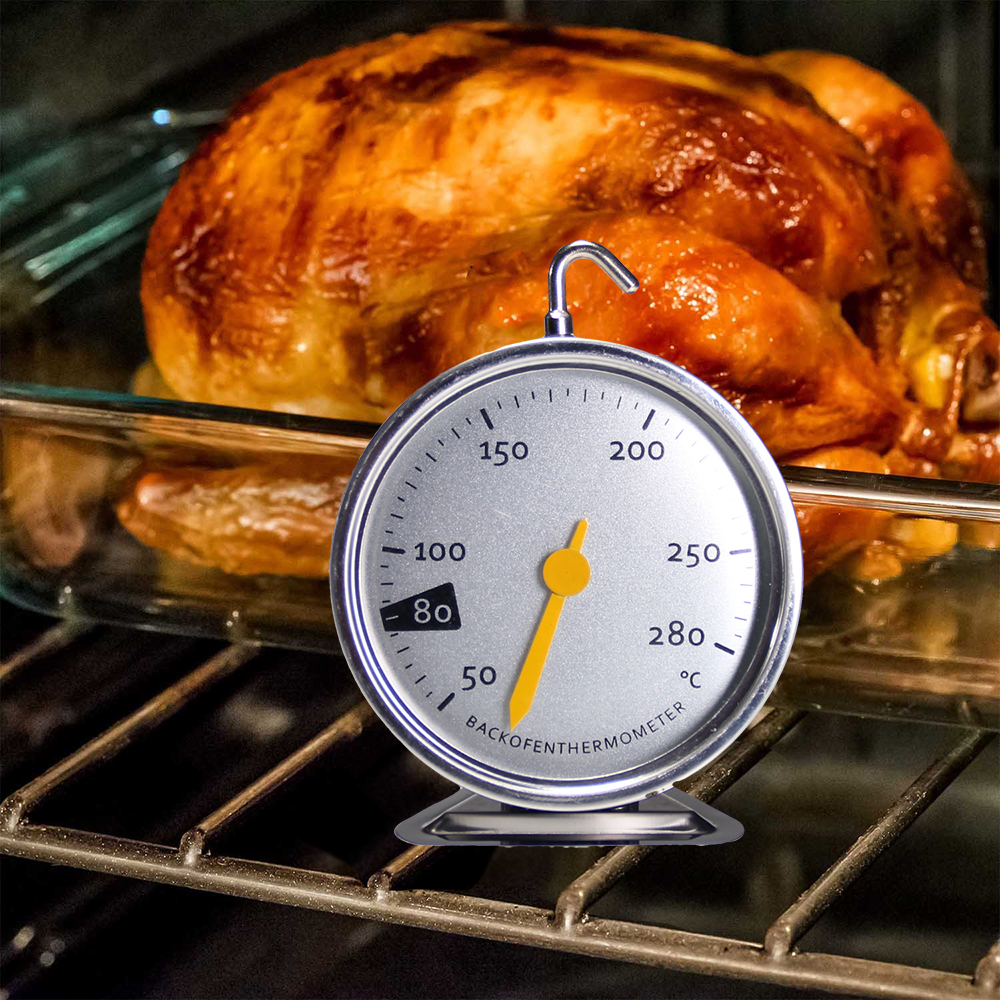 Backofenthermometer Lebensmittel Fleisch Zifferblatt Dediziertes mechanisches Backthermometer 50-280 Grad, Backwerkzeuge