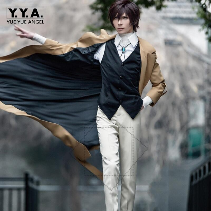 NEW Osamu Dazai Cosplay Bungo Stray Dogs Anime Armed Detective Agency Member Polyester
