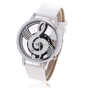 2019 top brand luxury new clock Fashionable Bolun Dots Hour Marks Leather Quartz Wrist Watches men with Music Symbol Patterned