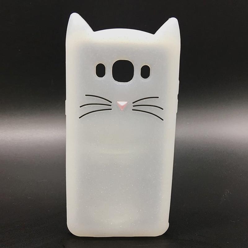 New Japan Cute 3D Glitter Beard cat soft silicon phone case For samsung galaxy j510 j3 j7 j5 2016 j710 Cartoon Coque back cover (5)
