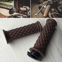 7 8 Comfort Motorcycle Hand Grips Cool Brown Motorcycle Handlebar For Cafe Racer Bobber Clubman Custom
