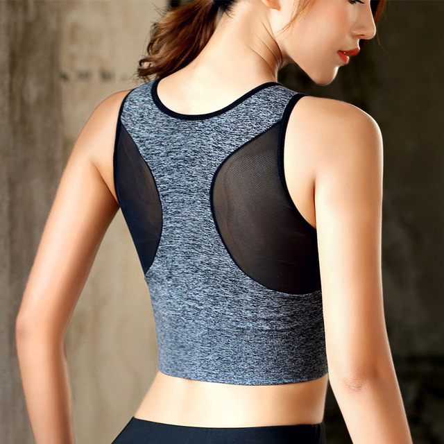 Women's Seamless High Impact Sports Bra with Removable Cups High Support Pink Workout Yoga Bra Sexy Back Cutout Activewear